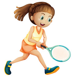 a female tennis athlete vector image