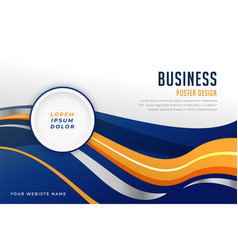 Abstract business wavy background presentation vector