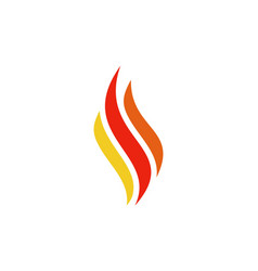 abstract fire letter s logo icon vector image