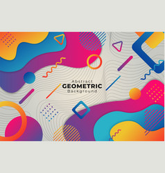 abstract funny gradient colorful geometric shape vector image