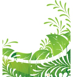 Abstract green lawn vector image