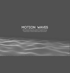 abstract grey technology wave for web background vector image