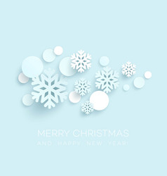 Abstract papercraft snowflakes christmas vector