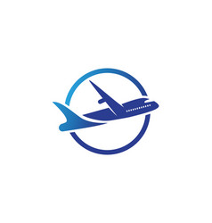 Aircraft airplane airline logo label journey air vector
