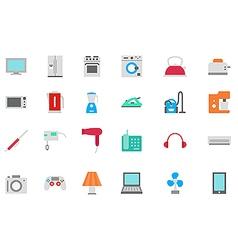 Appliances icons set vector
