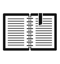architect notebook icon simple style vector image