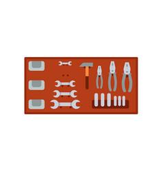 auto service mechanic tools on vector image