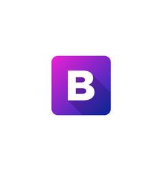 B modern gradation shadow letter logo icon design vector