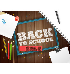 back to school sale lettering banner vector image