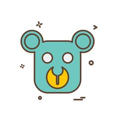 bear icon design vector image