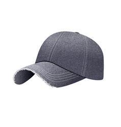 black denim baseball cap with shadow uniform cap vector image