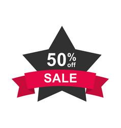 black friday sale offer half price sticker shaped vector image