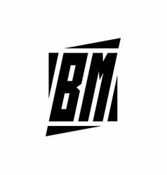Bm logo monogram with modern style concept design vector