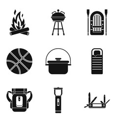 bowler icons set simple style vector image
