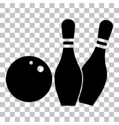 Bowling sign Flat style black icon vector image