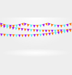 bright colorful garlands vector image