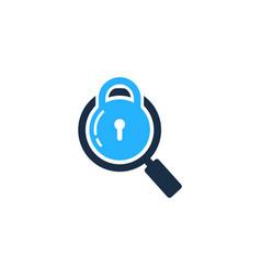 Browse security logo icon design vector