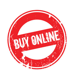 buy online rubber stamp vector image
