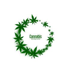 Cannabis or marijuana weed leaves frames vector