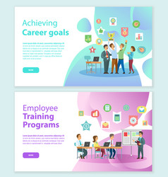 career goals and training programs workers vector image