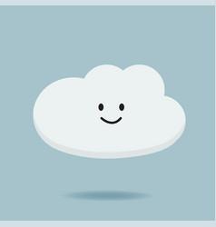 Cartoon character cloud design vector