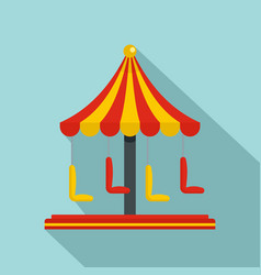 Circus carousel icon flat style vector