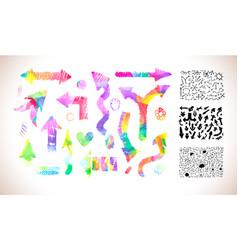 colorful arrows set vector image