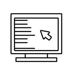 computer cursor screen technology outline vector image