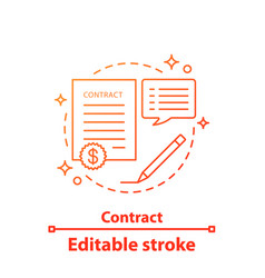 contract concept ico vector image