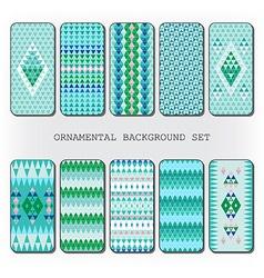 Diamond pattern decor vector image