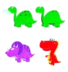 dino set icon vector image