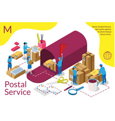 distribution postal service infographic vector image