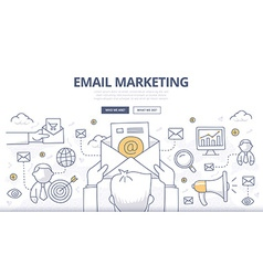 Email Marketing Doodle Concept vector
