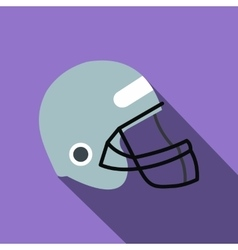Football helmet with face mask flat icon vector