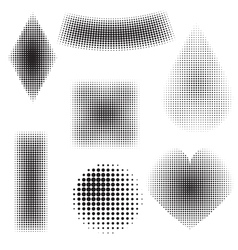 Halftone objects vector