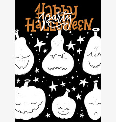 halloween party poster design template vector image