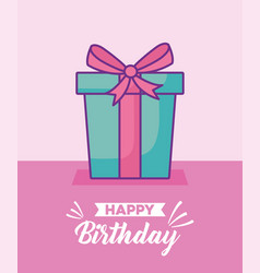 happy birthday celebration card with gift presents vector image