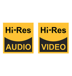 High resolution video audio signals sign vector