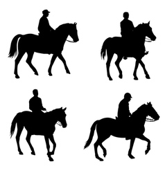 Horsemen silhouettes vector