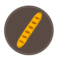 Isolated baguette icon vector