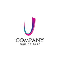 J company logo template design vector
