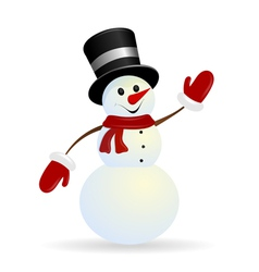 Jolly Christmas snowman on a white background vector
