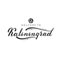 Kaliningrad handwritten lettering inscription vector