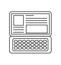 Laptop keyboard website application connection vector