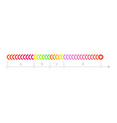 linear scale timeline chart icon vector image