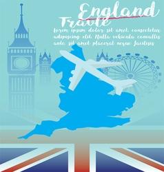 London travel United Kingdom Flat Icons Design vector image