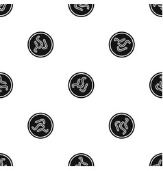 lot of bacteria pattern seamless black vector image