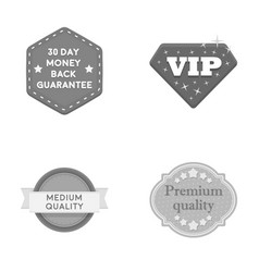 Money back guarantee vip medium qualitypremium vector