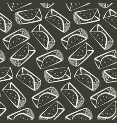 monochrome outline burrito pattern vector image
