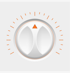 navigation round knob button with orange markers vector image